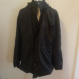 Black water resistant light jacket